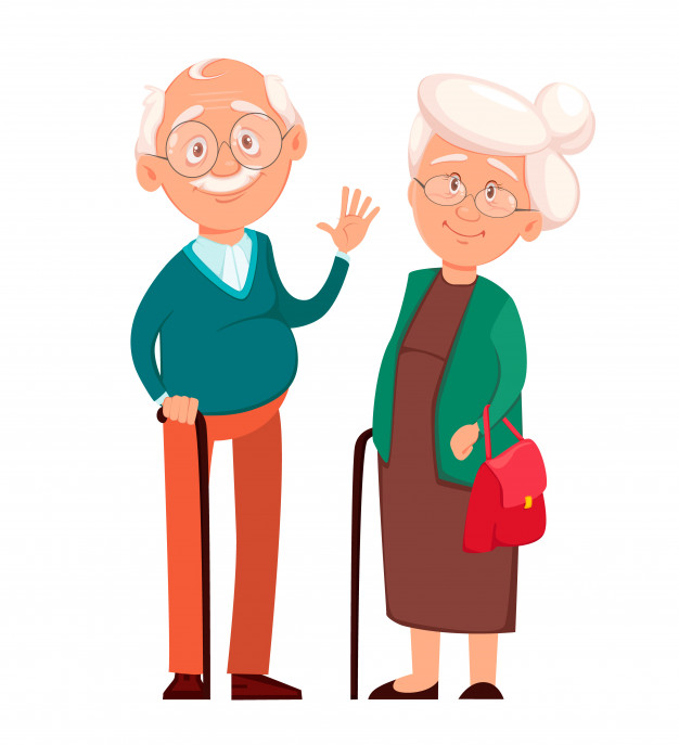 grandmother standing together with grandfather 88465 745